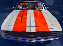 Yikes! Stripes! (oybay©) Tags: camaro chevroletcamaro chevrolet car automobile barrettjackson barrett jackson autoauction auction scottsdale arizona color colors blue yellow red green primarycolors primary vehicle az glendale carshow