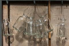 Hanging Bottles, Petersham Nursery, Richmond (Peter Cook UK) Tags: 2018 patina patinated petersham richmond nursery glass bottle
