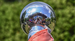 Family and Friends (Paul B0udreau) Tags: photoshop canada ontario paulboudreauphotography niagara d5100 nikon nikond5100 canallake kawarthalakes people flagpole silver reflection selfie red nikkor50mm18