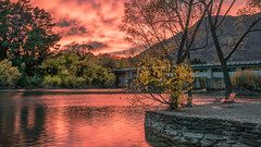 Queenstown Sunrise (justenoughfocus) Tags: aurorahdr locations luminar macphun sonyalpha clouds dawn landscape landscapephotography newzealand otago queenstown skylum travel trees