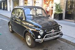 Fiat 500 (Monde-Auto Passion Photos) Tags: voiture vehicule auto automobile fiat 500 petite little noir black ancienne classique collection légende montaigne france paris