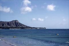 Pre-Highrise Diamond Head 1952 (Kamaaina56) Tags: 1960s waikiki hawaii beach slide grays