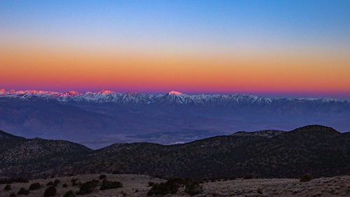 Crazy Fun Sunrise Over Bishop California & The Owens Valley