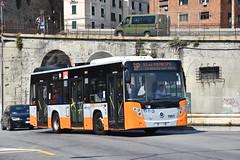 AMT Genova 7001 FE-951WB. (EYBusman) Tags: amt genoa genova municipal bus coach city centre principale station railway 7001 menarinibus citymood 10 iia 2016 fe 951 wb staglieno gavette italy eybusman