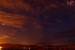 Milky Way and Mars peaking through clouds (rungegraphy) Tags: astro sunset clouds milkyway mars canon 80d croatia novalja kustici