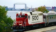 Soo Line GP30 700, Lakeside - Duluth MN USA, 09/14/18 (TonyM1956) Tags: elements sonyalphadslr sonyphotographing