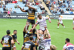 Nizaam Carr Back Row 007-1 (cwoodend..........Thanks) Tags: wasps waspsrfc waspsrugby premiershiprugby 2018 ricoharena leicestertigers rugbyunion coventry 160918 nizaamcarr backrow