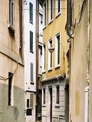 Uno stretto vicolo (sirio174 (anche su Lomography)) Tags: closed chiuso bar viadiaz writers scarabocchi vandali vandalismo como italia italy