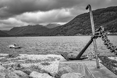 Anchor's away, Dunoon, Scotland (picsbyCaroline) Tags: boat sky anchor mountain hill sea water landscape amazing view scenic scotland dunoon weather beach shingle