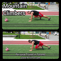 Mountain Climbers (personaltrainertoronto) Tags: boot camp hiit exercise workout bodybuilding athlete athletic fitness model fit kettlebell free weight bodyweight sexy muscles strong strength powerful track intensity interval abs legs glutes booty butt 6 pack sixpack