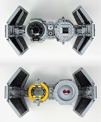 TIE Retriever Front/Back (Inthert) Tags: wars star imperial empire ship retriever bomber tie moc lego front back rear