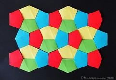 Cairo tess (mancinerie) Tags: origami papiroflexia paperfolding papierfalten tessellation cairo francescomancini