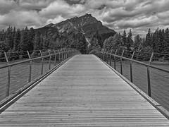 Banff National Park - Walking over Bow River (anjaherzog1) Tags: kanada canada banff nationalpark bowriver