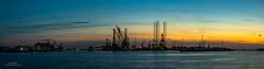 Botlek panorama (Peet de Rouw) Tags: botlek shipyard damenverolme sunset twilight panorama portofrotterdam port peetderouw denachtdienst canon5dmarkiv canonef24105mmf4lisusm