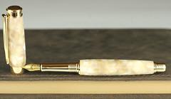 Conway Stewart Opal Fountain Pen - Bock Gold Nib (BenjaminCookDesigns) Tags: fountainpen custom bespoke engraved personalised classic vintage artdeco style gift birthday christmas fpgeeks fpn giftforhim giftforher füllfederhalter