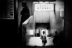 20180830 from now on (soyokazeojisan) Tags: japan osaka bw blackandwhite city street monochrome digital olympus penf  12mm 2018 night light