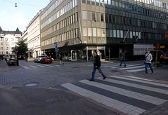 Annankatu and Eerinkatu intersection (quiggyt4) Tags: helsinki finland scandinavia tram streetscape streets road tracks kamppi chapel church abstract balloons stair door plaza publicspace cube cubism busstation bikeshare yellow biking bicycle docks sculpture mall shopping finnish shoppingmall orange computer architecture pink vodka cranberries lapland occupy ows occupywallstreet europe ronpaul trump donaldtrump