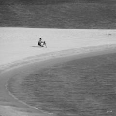 dreamers are lonely (gicol) Tags: lonely alone solo solitudine soledad solingo playa spiaggia beach sea mare ocean adriatico italia italy puglia salento brindisi campodimare sitting seduto sentado sabbia sand arena