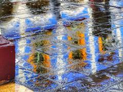 Y empezó a llover (FOTOS PARA PASAR EL RATO) Tags: water agua streets calles pavimento textura reflejos méxico texcoco calle rain lluvia