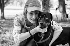 lovers (andaradagio) Tags: andaradagio bianconero bw canon dog cane miglioramicodelluomo nadiadagaro