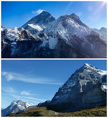 My favorite mountains (posterboy2007) Tags: mteverest himalayas nepal alps switzerland eiger mountains