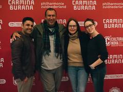 Genodigden ontvangst Carmina Burnana