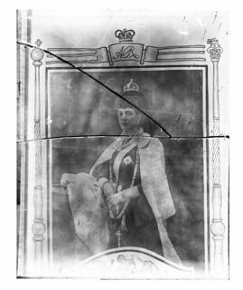 Glass Negative showing Queen Alexandra