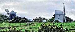 Jack and Jill (Geoff Henson) Tags: windmill hill sky cloud grass tree sails building old historic listed landmark