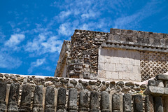 Stones of Uxmal / Камни Ушмаля (Vladimir Zhdanov) Tags: travel mexico yucatan sky cloud maya uxmal ancient temple ruins wall