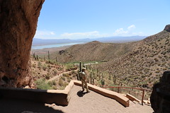 Visit to the Tonto National Monument (Tonto National Forest - Roosevelt, Arizona) - July 13, 2018 (cseeman) Tags: tontonationalforest nationalforest arizona roosevelt river saltriver barbie2018 cliffs gilacounty gilacountyarizona tontobasin tontonationalmonument salado saladoculture saladopeoples cliffdwellings tontocliffdwellings tontonationalmonumentcliffdwellings lowercliffdwellings tontolowercliffdwellings cactus mountains superstitionmountains nationalparkservice nationalpark historicsites historicarizona saladophenomena sonorandesert desert trails paths saguaro saguarocactus tonto