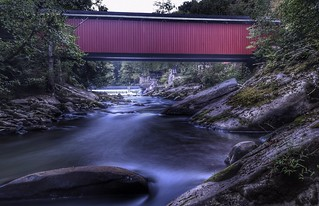 The covered bridge - McConnells mill, PA