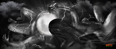 the ECLIPSE - The sun and the moon Chase wants to hug (surRANTo dwisaputra) Tags: eclipse blackwhite sun moon surreal art cloud blackandwhite bw mono monochrome dream journey mystery allure magnetism shadow imagination subconscious subconsciousness surrealism expression expressionism
