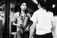 Being Human (Meljoe San Diego) Tags: meljoesandiego fuji fujifilm x100f streetphotography people candid monochrome philippines love