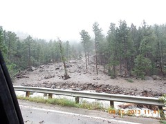 Damage in Lefthand Canyon above Lee Hill on September 15, 2013. (Boulder OEM)
