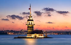 _DSC2170 - The Maiden's Tower on the Bosphorus (AlexDROP) Tags: 2018 turkey europe istanbul art travel architecture color city skyline landscape longexposure cityscape urban nikond750 afsnikkor28300mmf3556gedvr best iconic famous mustsee picturesque postcard ngc hdr
