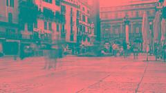 verona - piazza erbe (paolopalmaflick) Tags: italy veneto square city town blackandwhite verona street