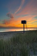 T U R M 9 (spityHH) Tags: sunrise sonnenaufgang ostsee balticsea kasefilters centerfilter turm tower beach strand meer k8 wolken cloud
