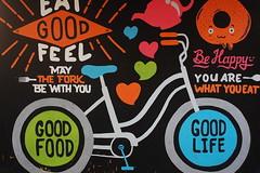 Good Food, Good Life (Ikhlasul Amal) Tags: wall bike bicycle
