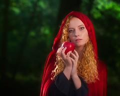 Lacy Fairy Tale 1642 B (jim.choate59) Tags: jchoate on1pics fairytale apple cloak woods fantasy cosplay maiden magic fantasie imagination face