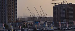 Cranes ....not the birds (vishalkerkar77) Tags: teamwork triplets dubai engineering architecture modern building construction city urban cranes silhouette