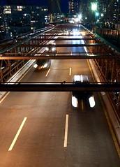 An evening walk on the #BrooklynBridge (Σταύρος) Tags: thebigapple trafficbelow suspensionbridge onthebridge newyork exercise walking brooklynbridge 1875