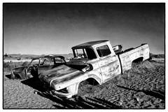 Desert wreckages (ganagafoto) Tags: ganagafoto africa namibia bw bn wreckages relitti desert deserto solitaire