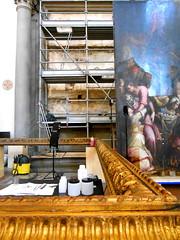 Basilica Santa Croce-Florence (Chris Draper) Tags: restoration artrestoration paintingresoration restore restoring fram gold gilt giltframeitaly florence firenze santacroce basilica renaissance art painting church architectre