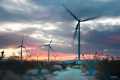 2018-09-23-mojave-wind-farm-sunset-IMG_4501 (Russ Thorne Art Photography) Tags: kern county mojave california wind energy sunset desert turbines turbine power generation electric electricity