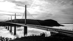 Pont de Millau (jackymoins) Tags: bridge blanc et noir