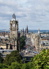 Princes Street, Edinburgh (p.mathias) Tags: oad street busy cars people edinburgh history princes winter places city sky building clock tower oldtown unitedkingdom sony a5100