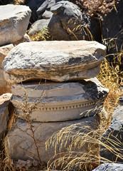 Ruins of the Acropolis at Lindos (littlestschnauzer) Tags: lindos acropolis inscription greek historical ancient stones stack pile 2018 summer poi visit rhodes island