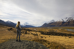 The Road to Mt. Cook (Matt Champlin) Tags: mtcook aoarki nationalpark newzealand incredible mountains winter hike hiking adventure landscape towering canon 2018 travel summer snow glacier river stunning