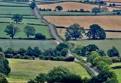 'Border Country' (SONICA Photography) Tags: wales cymru montgomery powys shropshire salop countryside paysage trees woods fields road border england galles nikon