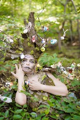 "TEATRONATURA ""Tree of summer migration"" (valeriafoglia) Tags: tree summer birds wood green art atmosphere amazing fantasy forest earth beautiful beauty model makeup magic nature dryad colors capture composition creative creature photography photo pretty portrait"